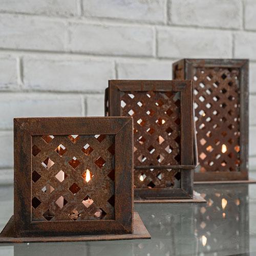 Rusty Fundi Candle holders