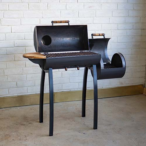 Offset barbecue smoker rusty fundi Nairobi Kenya